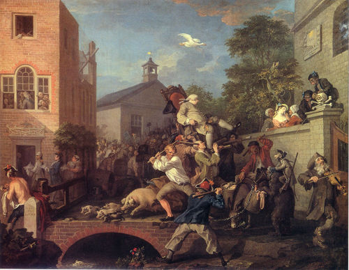 Hogarth - Chairing the Member 1785