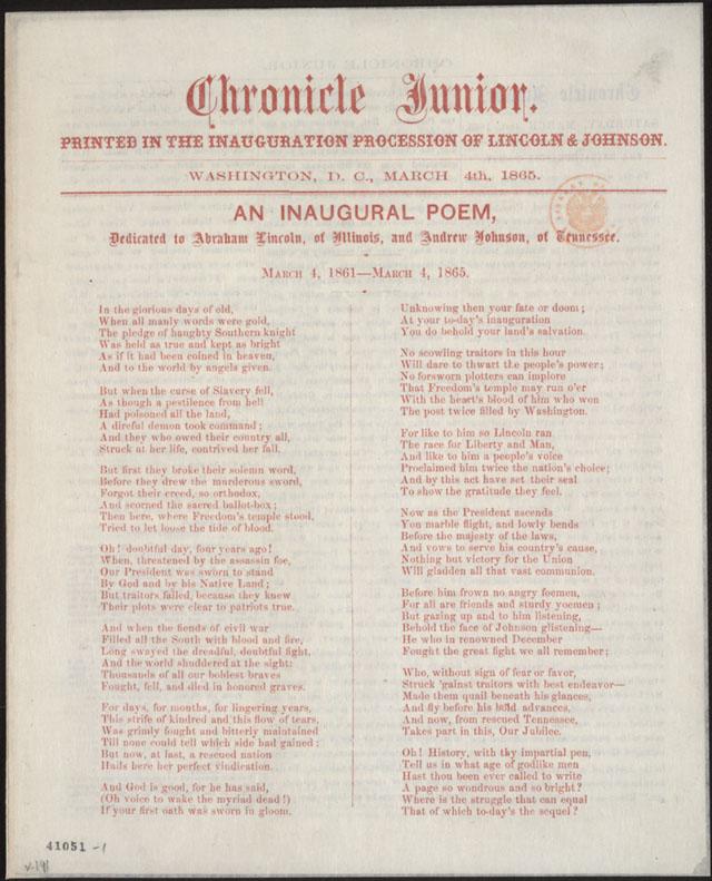 Inaugural Poem