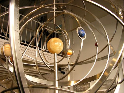 Orrery closeup by binks