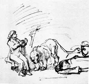 Daniel lion rembrandt