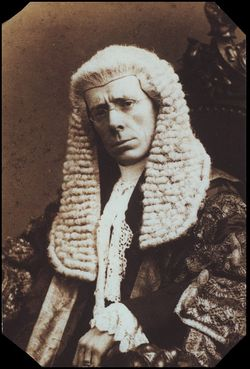 George Grossmith as the Lord Chancellor in 'Iolanthe'