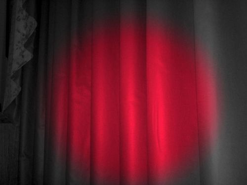 Curtains for you - scarlet