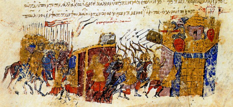 Thomas_the_Slav's_troops_assault_Constantinople