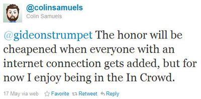 Colinsamuels tweet