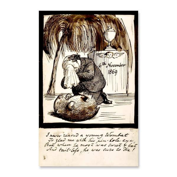 Rossetti mourning his wombat