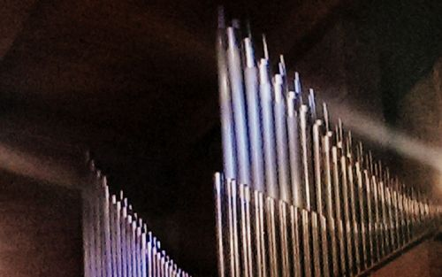 Organ pipes and lens flare