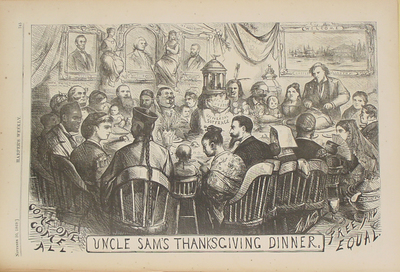 Thomas Nast - Uncle Sam's Thanksgiving - 1869
