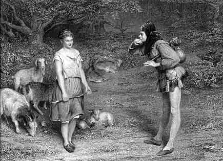 Touchstone: I am here with thee and thy goats, as the most capricious poet, honest Ovid, was among the Goths.